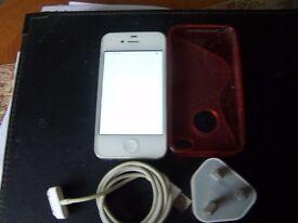 iPhone 4s on orange