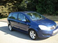 2008 58 Vauxhall Zafira 1.6 7 seater with Full Service History and a new 12 month MOT