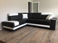 Large sofa bed corner storage sofabed lounge