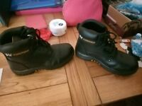 VR6 Powergrip Leather Black Safety Boots (Size 3)