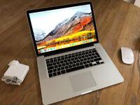 Apple MacBook Pro Retina 15.4 inch 3.8GHz Quad Core i7 512GB SSD 16GB RAM Mac Dual Graphics
