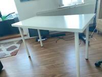 White IKEA desk 120x60cm