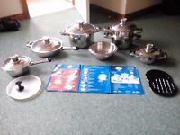 16 peace Stainless steel saucepans