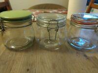 3 kitchen storage jars