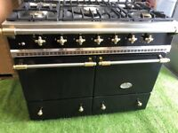 Lovely Lacanche Range cooker cluny Double oven black and brass appliance INC VAT