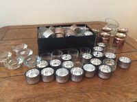 Large bundle of Wedding tea light holders - copper & silver - table decor