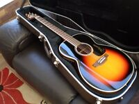Takamine electro acoustic guitar, Fishman electrics and Takamine case, superb condition
