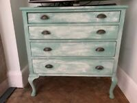 Teal/Mediterranean Turquoise Shabby Chic Chest of drawers