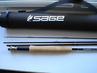 SAGE RESPONSE FLY ROD 8ft 6in line #5 four piece graphite in tube. In unused mint condition.