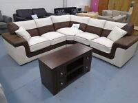 Brand New Brown/Beige Corner Sofa. 3+2 Available. Comes In Black/Grey. 2 To 3 Weeks Delivery.