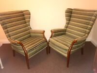 Two Parker knoll wingback chairs (ONO)