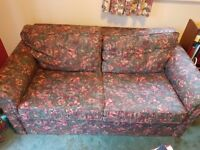 Two seat sofa bed, free to a good home (Collection only) pull-out double bed - mattress included