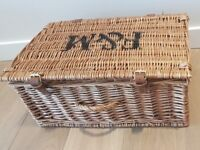 F&M Fortnum & Mason Wicker Hamper Storage Basket
