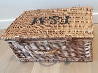 F&M Fortnum & Mason Wicker Hamper Storage Basket