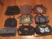 Job lot of 9 new designer bags/ holdalls. Ed Hardy, YSL, Paco Rabanne etc