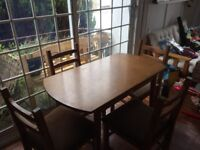 Free table and four chairs