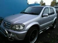 Mercedes ml 2003 reg on gas bi fuel