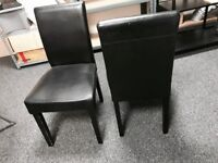 8pcs Black leather seat dinning chairs, bargain price!quick to go!