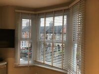 Bay Window Venetian Blinds White 50mm slats