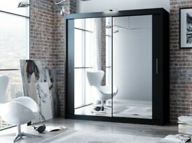 DESIGNER FURNITURE--Berlin 2&3 Sliding Doors Wardrobe In 5 Sizes & In Multi Colors- CALL NOW