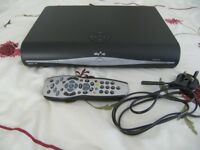 SKY PLUS HD BOX WITH REMOTE CONTROL AND MAINS LEAD