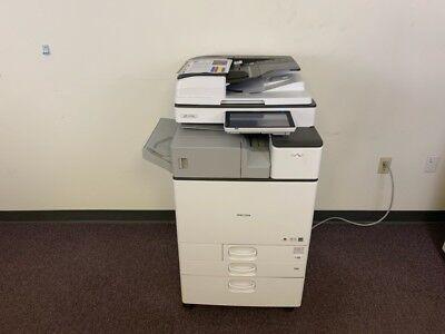 Ricoh Mp C2504 Color Copier Machine Network Print Scanner Fax Internal Finisher