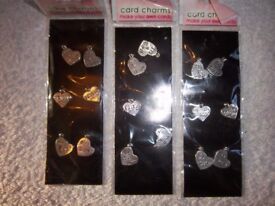 3 x New Packs of Card Charms IP1