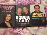 Three Biography Book- Miranda Hart, Jason Manford And Robbie & Gary