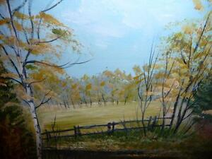 "L. M. Spears ""Country Scene"" Oil Painting Stratford Kitchener Area image 3"