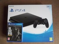 Playstation 4 Slim 500GB PS4 Console with The Last Of Us - All Brand New, Sealed