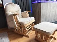 Sereno delux nursing chair and glider