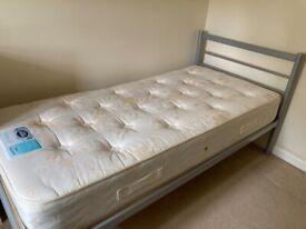 Bed - single chrome frame