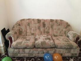 Free 3 seater sofa and 2 single chairs for collection
