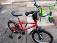 "Kids 16"" wheel bike"