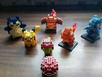 Pokemon go pikachu snorlax mewtwo pokeball building blocks