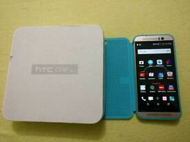 Top spec htc m9 smartphone with genuine htc dot view case
