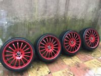 20inch Alloys Wheels Lexus in red and black