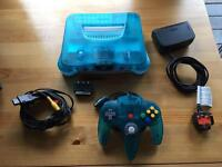 Limited Edition Nintendo 64 (Ice Blue + games)