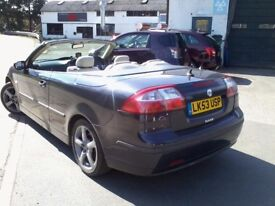 SAAB 9-3 VECTOR CONVERTIBLE / 53 REG / ONLY 90K MILES / COLOUR CODED BLUE / 2.0 TURBO / MOT 03-2018