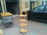 Bamboo free standing shelf unit