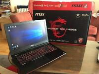 "15.6"" MSI gaming / graphics computer i7 2.6ghz Nvidia GTX970m 8GB RAM - Windows 10 - barely used"