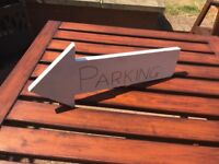 Parking sign for weddings, parties etc