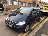 MERCEDES BENZ A150 CLASSIC PETROL MANUAL 2007 LONG MOT JUST SERVICED CAT D BARGAIN DRIVES WELL