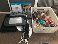 Black Wii u and huge Disney infinity bundle