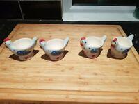 Set of 4 farmhouse egg cups