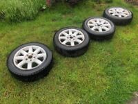 Four 205/55 R16 Winter Tyres with rims
