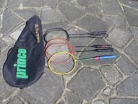 Badmington Racquets and Case