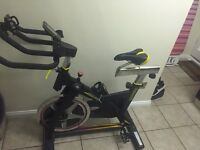 BODYMAX BLACK INDOOR CYCLE EXERCISE BIKE WITH LCD MONITOR