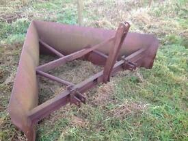 V shaped snow plough. Tractor plough.