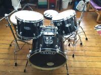 Mapex V series 5 piece drum kit with stands, stool,pedal and cases Haringey area